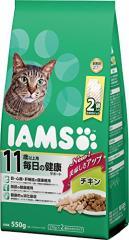 アイムス (IAMS) 11歳以上用(シニア) 毎日の健康サポート チキン 550g(275g×2) 猫用ドライフード(毛玉ケア)