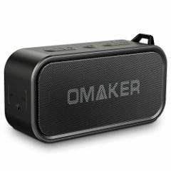 Omaker M6 Bluetoothスピーカー 防水 TWS機能対応 7W低音強化 20m通信距離ワイヤレスブラック