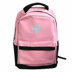 山善(YAMAZEN) 非常用持ち出し袋 簡易避難セット 防災用品 避難リュック 防災グッズ10点セット 子供用 一次避難向け ピンク YCB-10(PI)