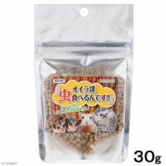 黒瀬ペットフード 自然派宣言 オイラ達虫食べるんです 30g ハリネズミ フクロモモンガ フード 餌 (ハムスター)