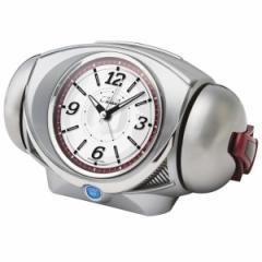 SEIKO セイコー 目覚まし時計 キャラクター ウルトラ RAIDEN ライデン 大音量 クオーツ ウルトラマン (銀色メタリック塗装) CQ141S【お取