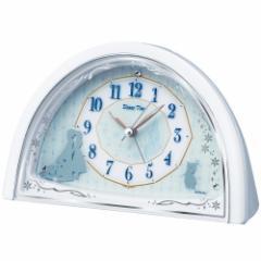 SEIKO セイコー 目覚まし時計 アナと雪の女王 アナログ Disney Time(ディズニータイム) 白パール FD476W【お取り寄せ】