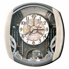 SEIKO セイコー 掛け時計 ミッキーマウス ミニーマウス 電波 アナログ からくり 6曲メロディ 回転飾り ミッキー&フレンズ Disney Time(デ