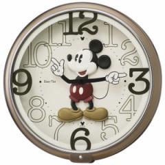 SEIKO セイコー 掛け時計 ミッキーマウス アナログ 6曲メロディ ミッキー&フレンズ Disney Time(ディズニータイム) 茶メタリック FW576B