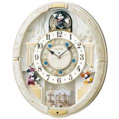 SEIKO セイコー 掛け時計 ミッキーマウス 電波 アナログ からくり 12曲メロディ 回転飾り ミッキー&フレンズ Disney Time(ディズニータイ