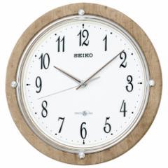 SEIKO セイコー 掛け時計 衛星電波 スペースリンク アナログ 薄茶木目模様 GP212A【お取り寄せ】