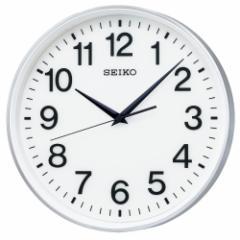 SEIKO セイコー 掛け時計 オフィス 衛星電波 スペースリンク アナログ 銀色 メタリック GP217S【お取り寄せ】