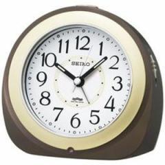 SEIKO セイコー 目覚まし時計 夜でも見える 自動点灯 電波 アナログ 茶メタリック KR331B【お取り寄せ】