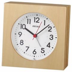 SEIKO セイコー 掛け時計 置き時計 目覚まし時計 スタンダード アナログ アラーム 木枠 天然色木地 KR501A 【お取り寄せ】