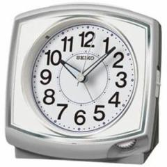 SEIKO セイコー 目覚まし時計 スタンダード アナログ 銀色メタリック KR891S 【お取り寄せ】