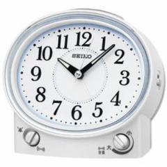 SEIKO セイコー 目覚まし時計 スタンダード アナログ 切替式アラーム 白パール KR892W 【お取り寄せ】