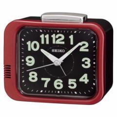 SEIKO セイコー 目覚まし時計 スタンダード アナログ 赤メタリック KR896R 【お取り寄せ】