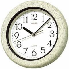 SEIKO セイコー 掛け時計 アナログ 生活防水 強化防湿 防塵型 キッチン&バス グレー模様 KS441H【お取り寄せ】