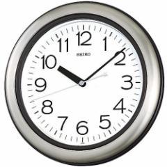 SEIKO セイコー 掛け時計 アナログ 生活防水 強化防湿 防塵型 キッチン&バス 金属枠 KS463S【お取り寄せ】