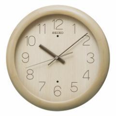 SEIKO セイコー 掛け時計 スタンダード 電波 アナログ 木枠 薄茶木地 KX201A【お取り寄せ】