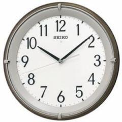 SEIKO セイコー 掛け時計 自動点灯 電波 アナログ 夜でも見える 木枠 茶メタリック KX203B【お取り寄せ】