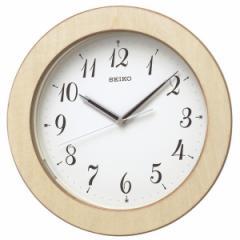 SEIKO セイコー 掛け時計 電波 自動点灯 アナログ 夜でも見える 木枠 天然色木地 KX216A【お取り寄せ】