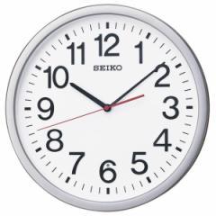 SEIKO セイコー 掛け時計 オフィス スタンダード 電波 アナログ 銀色メタリック KX229S【お取り寄せ】