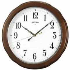 SEIKO セイコー 掛け時計 スタンダード 電波 アナログ 木枠 茶木地 KX326B【お取り寄せ】