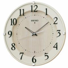 SEIKO セイコー 掛け時計 壁掛け スタンダード 電波 アナログ アイボリー ナチュラル シンプル 見やすい 北欧 おしゃれ リビング 寝室 引