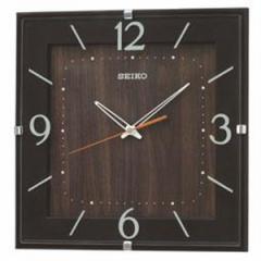 SEIKO セイコー 掛け時計 スタンダード 電波 アナログ 四角型 濃茶 KX398B【お取り寄せ】