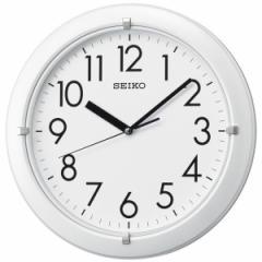SEIKO セイコー 掛け時計 スタンダード アナログ 丸型 プラスチック枠 白 KX621W【お取り寄せ】