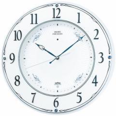 SEIKO セイコー 掛け時計 スタンダード 電波 アナログ 木枠 白パール LS230W【お取り寄せ】