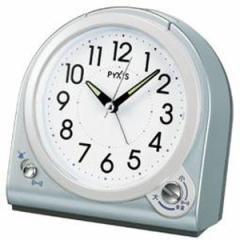 SEIKO セイコー 目覚まし時計 スタンダード アナログ 切替式アラーム PYXIS ピクシス 青メタリック NQ705L 【お取り寄せ】