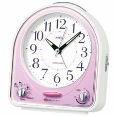 SEIKO セイコー 目覚まし時計 スタンダード アナログ 31曲メロディアラーム PYXIS ピクシス ピンク NR435P 【お取り寄せ】