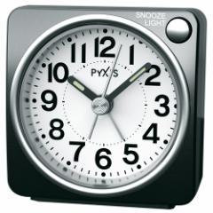 SEIKO セイコー 目覚まし時計 スタンダード アナログ PYXIS ピクシス 黒メタリック NR437K 【お取り寄せ】