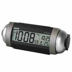 SEIKO セイコー 目覚まし時計 電波 デジタル 大音量 ベル音 PYXIS ピクシス RAIDEN ライデン 銀色メタリック NR530S【お取り寄せ】