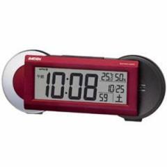 SEIKO セイコー 目覚まし時計 電波 デジタル 大音量 切替式アラーム PYXIS ピクシス RAIDEN ライデン 赤メタリック NR533R【お取り寄せ】