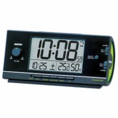 SEIKO セイコー 目覚まし時計 電波 デジタル 大音量 PYXIS ピクシス RAIDEN ライデン 黒 NR534K【お取り寄せ】