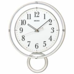 SEIKO セイコー 掛け時計 スタンダード 電波 アナログ 飾り振り子 白 PH205W【お取り寄せ】