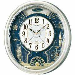 SEIKO セイコー 掛け時計 電波 アナログ からくり 6曲メロディ 回転飾り 薄金色パール RE561H【お取り寄せ】