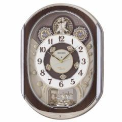SEIKO セイコー 掛け時計 電波 アナログ からくり 40曲メロディ 回転飾り 薄金色パール RE578B【お取り寄せ】