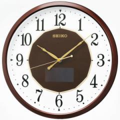 SEIKO セイコー 掛け時計 電波 ソーラー アナログ 茶メタリック SF241B【お取り寄せ】