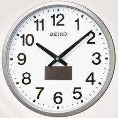 SEIKO セイコー 掛け時計 電波 ソーラー アナログ 銀色メタリックSF242S【お取り寄せ】