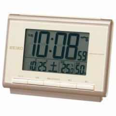 SEIKO セイコー 置き時計 目覚まし時計 電波 SQ698C セイコー置き時計 セイコー目覚まし時計 セイコー電波 デジタル カレンダー 温度計
