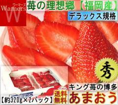 あまおう 苺 約320g×2パック 秀品 デラックス 福岡県産 大粒サイズ いちごの王様、博多あまおう!