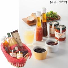 ジュースサンクゼール カゴ盛りギフトりんごジュース ジャム ドレッシング/SACK-8A