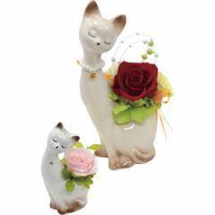 エルモ プリザーブドフラワー インテリア 猫 おしゃれ 薔薇/bc-8321