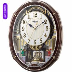 父の日ギフト プレゼント からくり時計 スモールワールド メロディ電波からくり掛時計 48曲入 掛時計