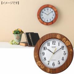 丸型時計リズム 象嵌枠電波掛時計/8MY520SR06