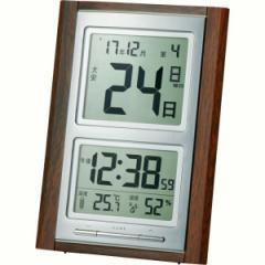 父の日ギフト プレゼント 置時計 アデッソ デジタル日めくり置掛兼用電波時計 電波時計 掛時計