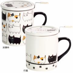 猫 3兄弟 フタ付 マグカップ おしゃれ ねこ コップ/13251