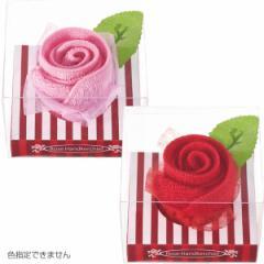プレゼント ローズタオルチーフ タオル生地 ハンカチ 薔薇