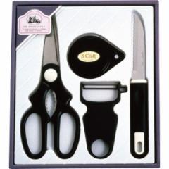 メルクローチェ キッチン4点セット キッチンバサミ ピーラー ナイフ