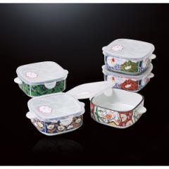 絵変り鉢セット古伊万里風 手付ノンラップ鉢5個組/52257