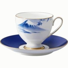 洋陶器 ナルミ 1客碗皿「霊峰 富士山」
